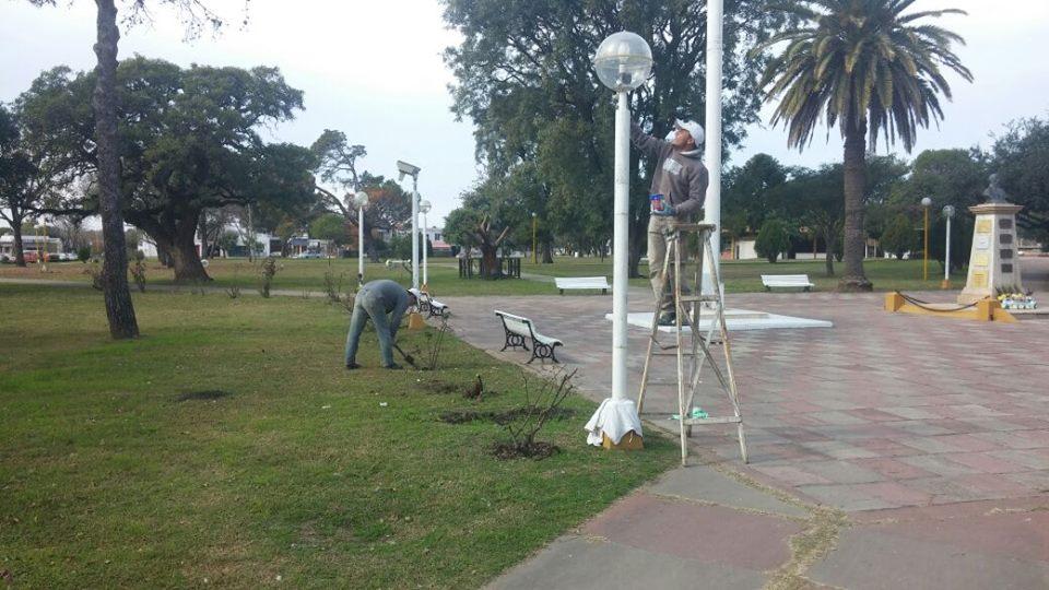 Reparaciones en plaza Las Colonias