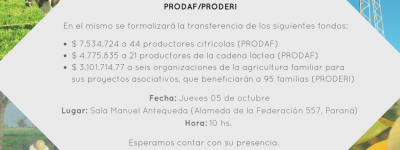 Entrega de fondos Prodaf Proderi 05-10-17