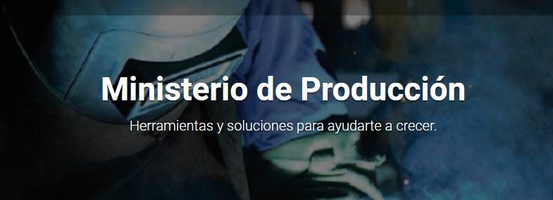 ministerio produccion