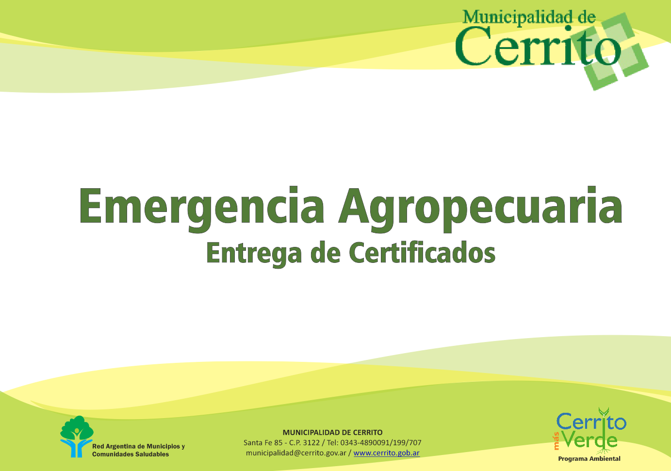 emergencia agropecuaria