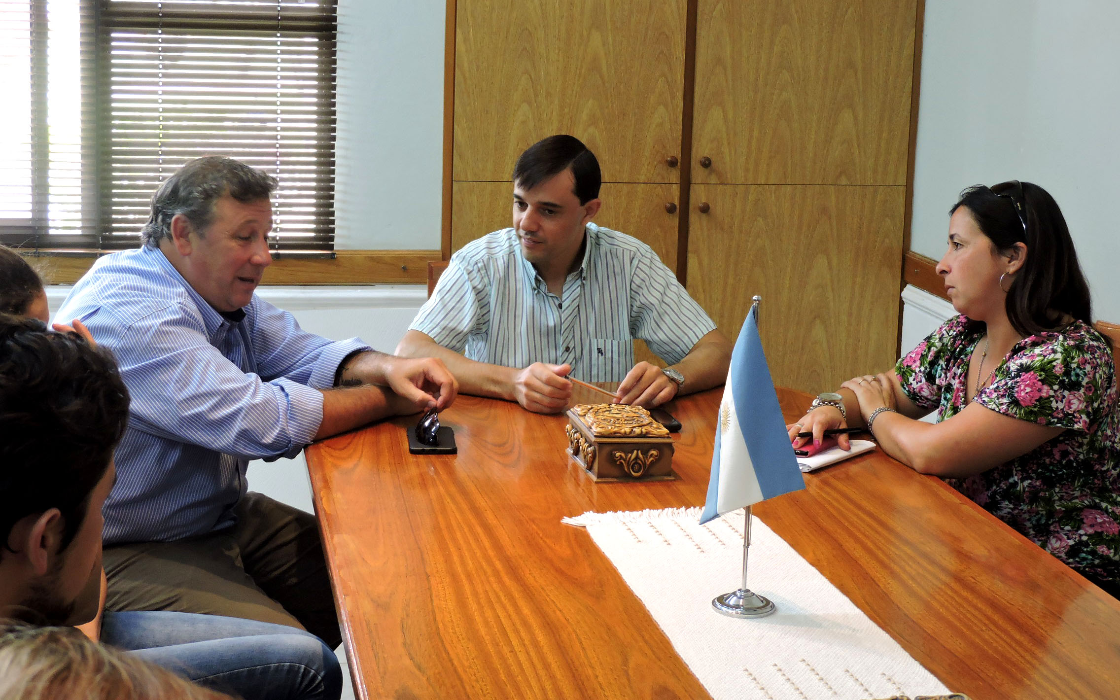 Visita institucional del intendente de El Pingo