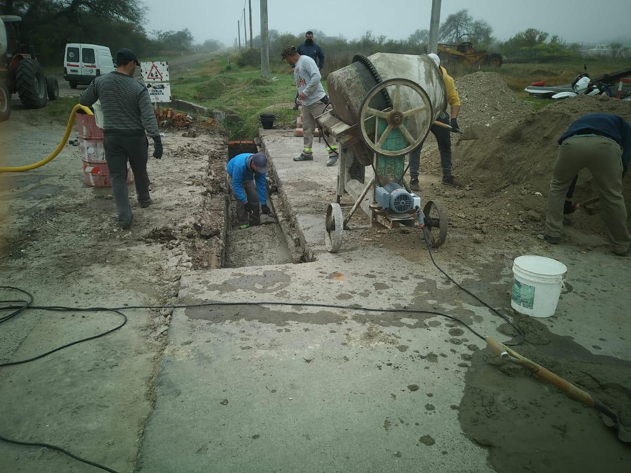 Se retoman los trabajos de en calle Libertad e Independencia